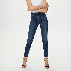 Citizens Of Humanity   Rocket High Rise Skinny Jeans Size 24 Dark Wash Aritzia